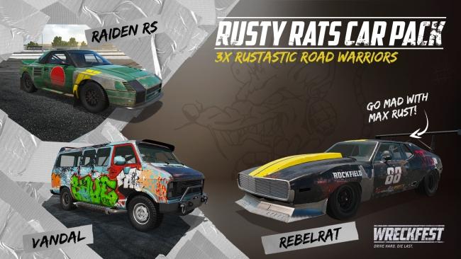 Wreckfest Rusty Rats Car Pack contents
