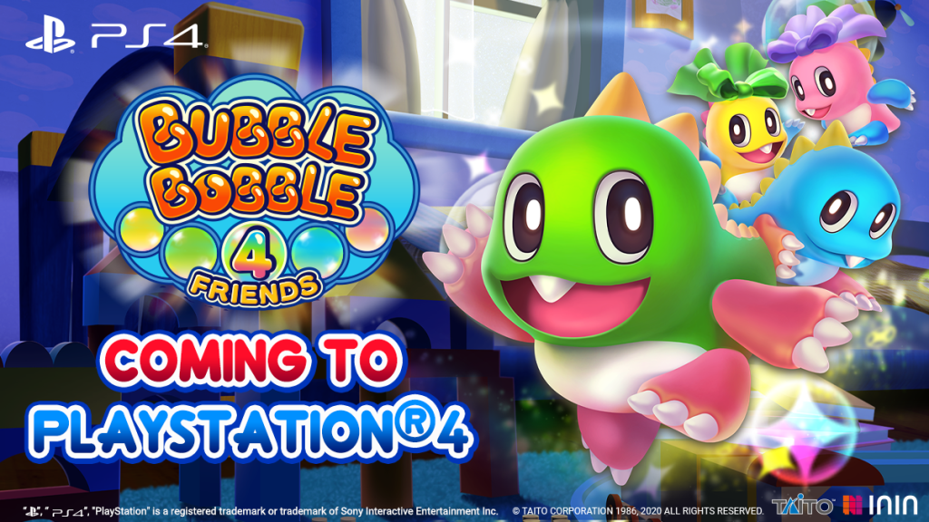 Bubble Bobble 4 Friends Coming to PS4