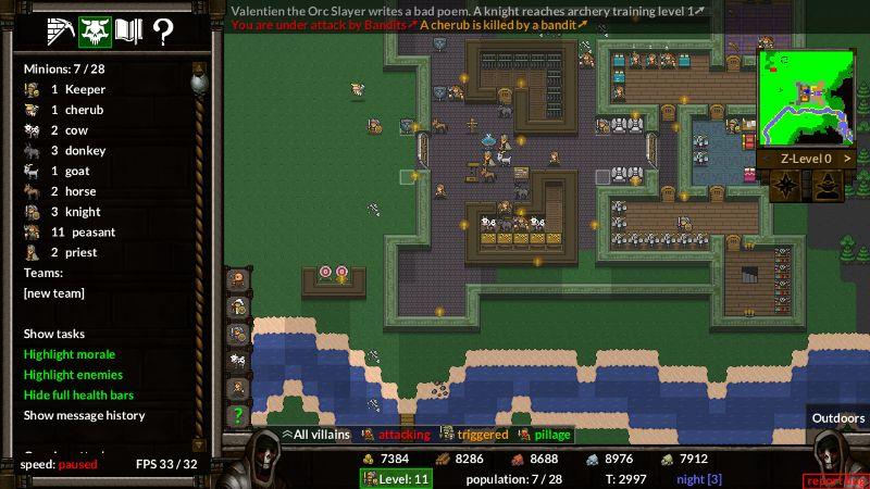 KeeperRL gameplay