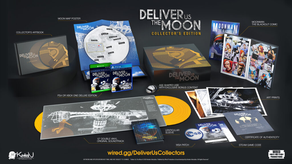 Deliver Us The Moon Collector's Edition contents