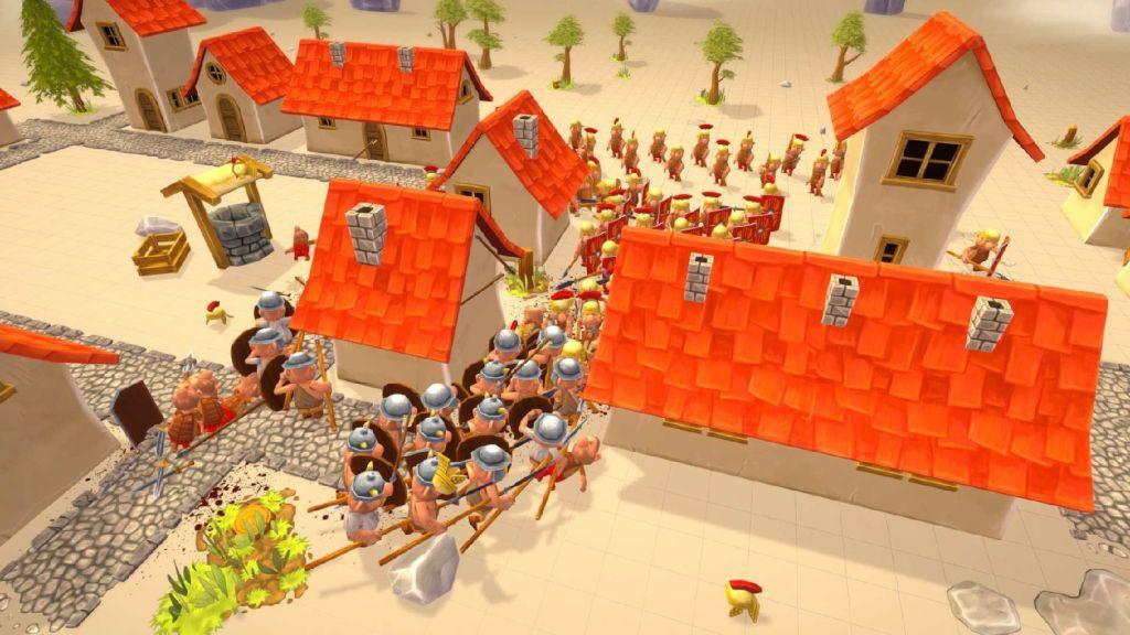 Gallic Wars Battle Simulator gameplay battle