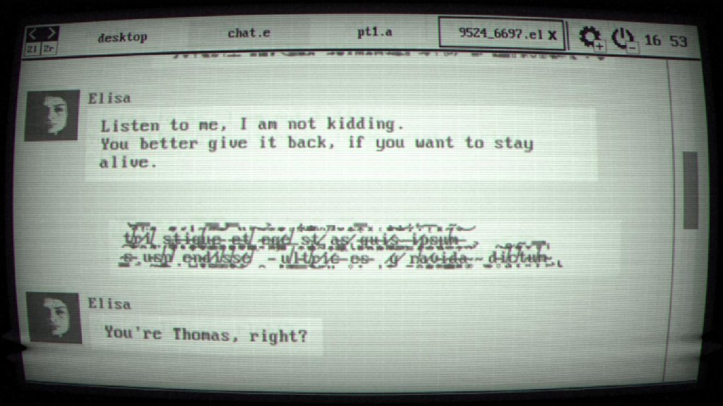 Sorry James gameplay screenshot of text messages