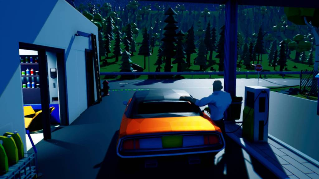 WoodZone gameplay, filling up the car