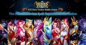 Heroes Evolved Halloween logo