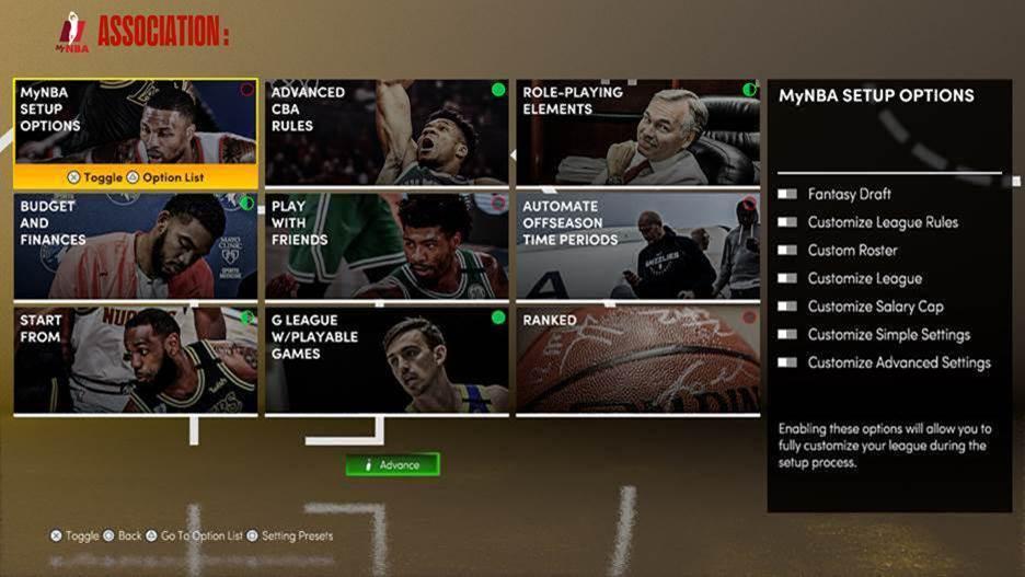NBA 2K21 Home Screen
