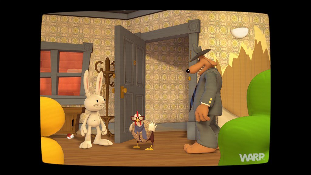 Sam & Max Save the World on a TV screen