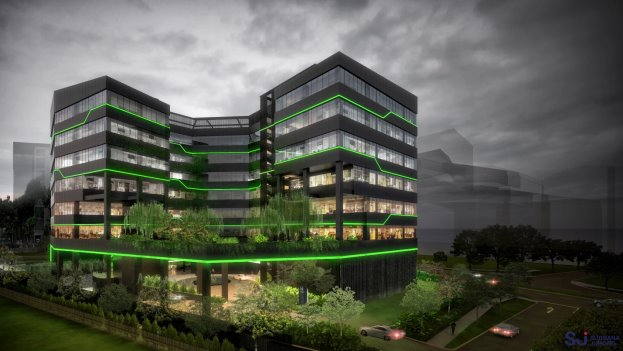 Razer HQ Office with Green lighting