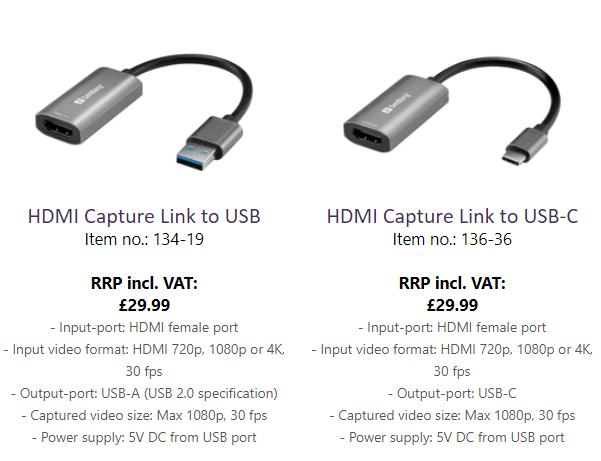 Sandberg HDMI Input devices