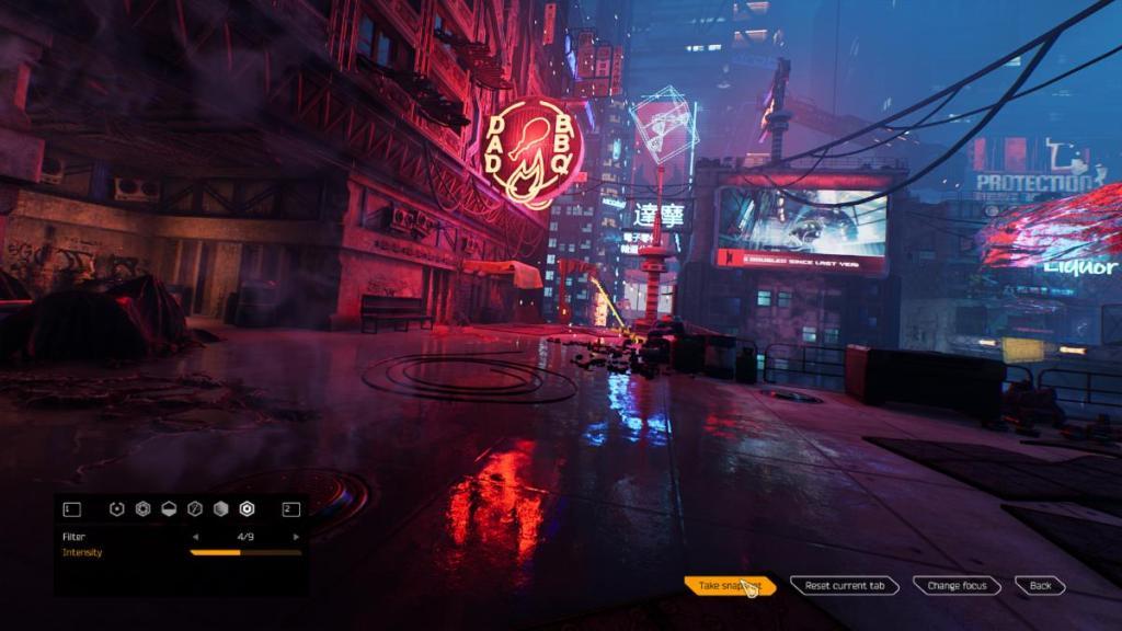 Ghostrunner Photo Mode during gameplay