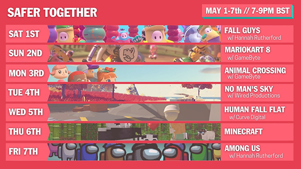 Safer Together schedule for the event