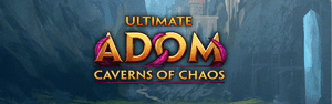 Ultimate ADOM Caverns of Chaos logo header