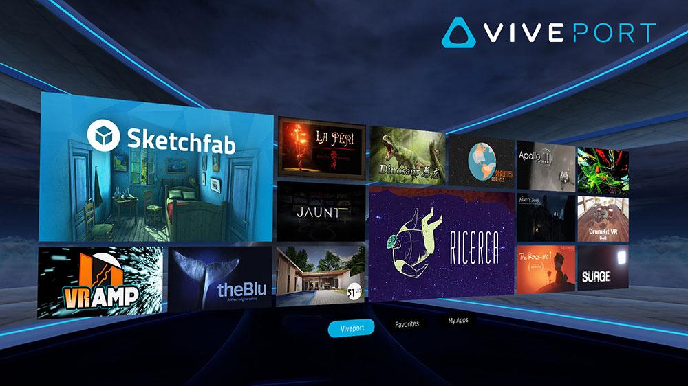 HTC Viveport menu selection