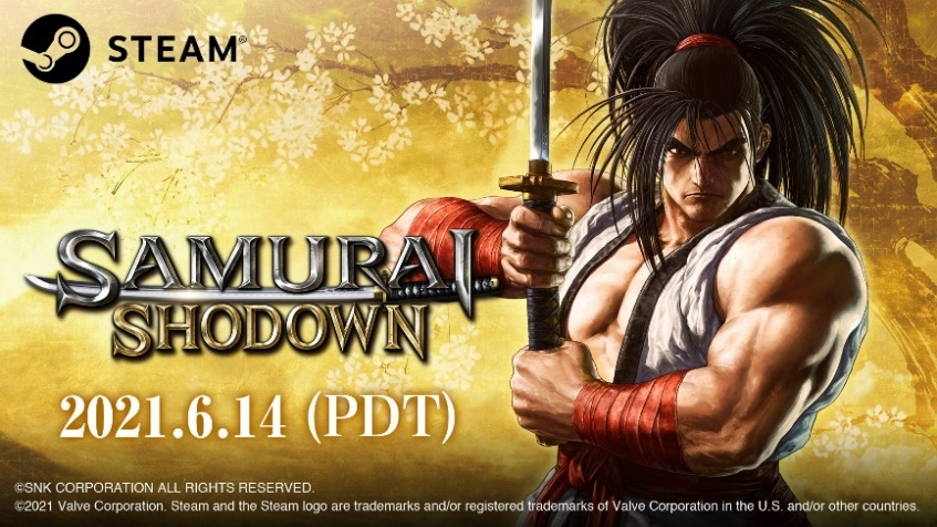 SAMURAI SHODOWN artwork and logo with release date
