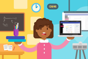 Animated image displaying Technology in Education