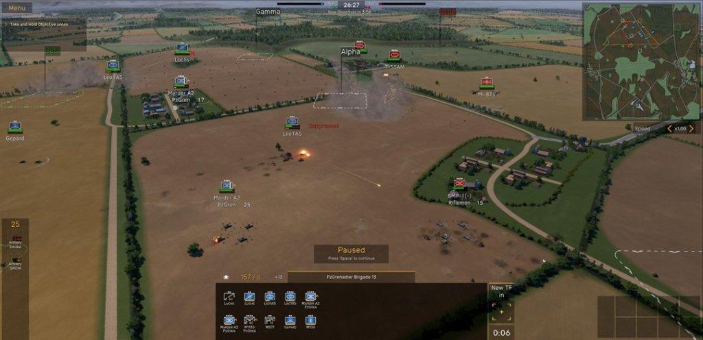 MicroProse Regiments gameplay screenshot