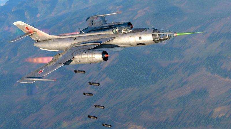 War Thunder Red Skies - Plane dropping bombs below