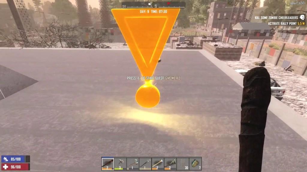 7 Days to Die quest marker