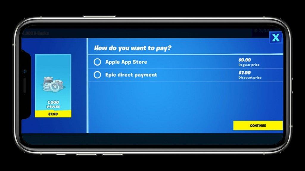 Top up Gaming Wallet for Fortnite via Apple or Epic Games
