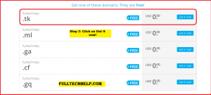Get a free domain name for your blog