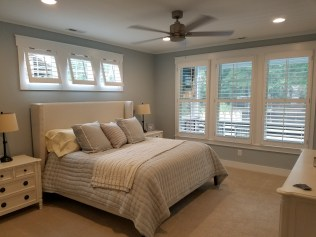 Plantation Shutters in Bedroom