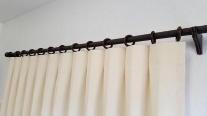 Reverse Pleat Drape on Wood Pole Kit