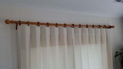 Reverse Pleat Drape on Wood Pole Kit