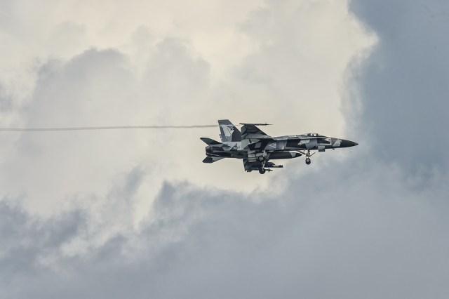 F/A-18 Hornet on final approach