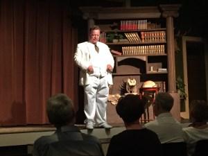 Joe Wiegand, as Theodore Roosevelt (www.teddyrooseveltshow.com), was incredibly realistic