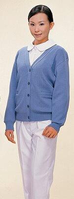毛衣外套-水藍色