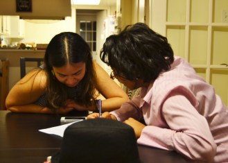January 12: Aline and Priscilla planning for Alinely