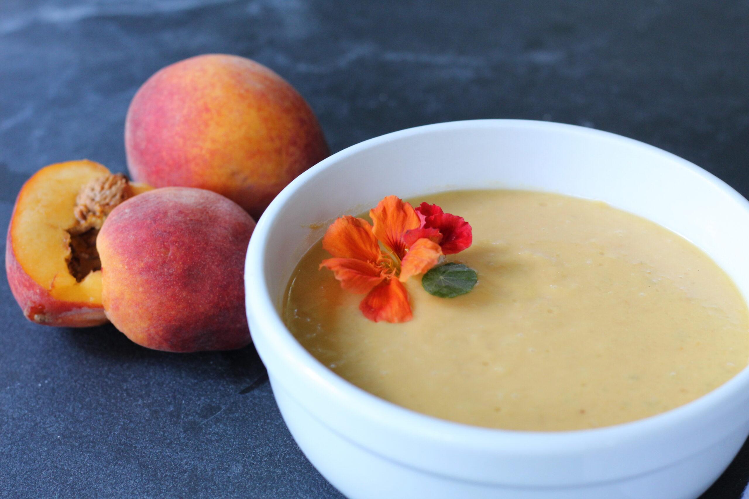 Peaches, Summer, Soups, Dinner, Lunch, One Pot, Vegetarian, Gluten-Free