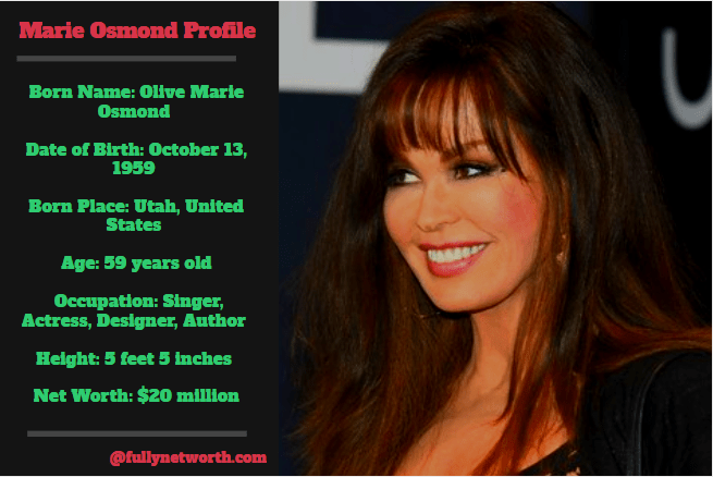 Marie Osmond Net Worth: 5 Interesting Facts You Should Know