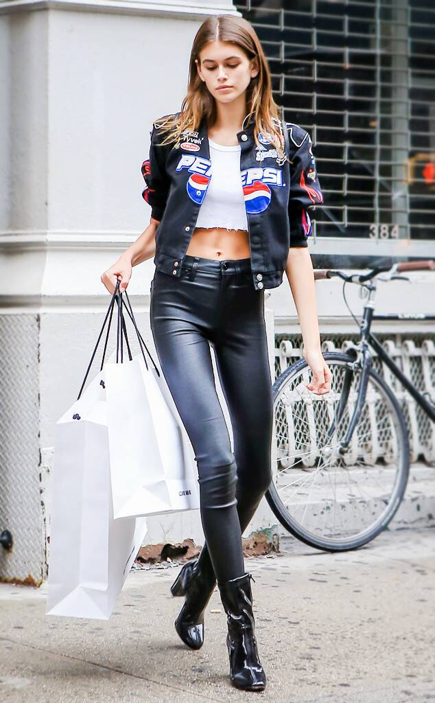 Kaia Gerber Walking New York