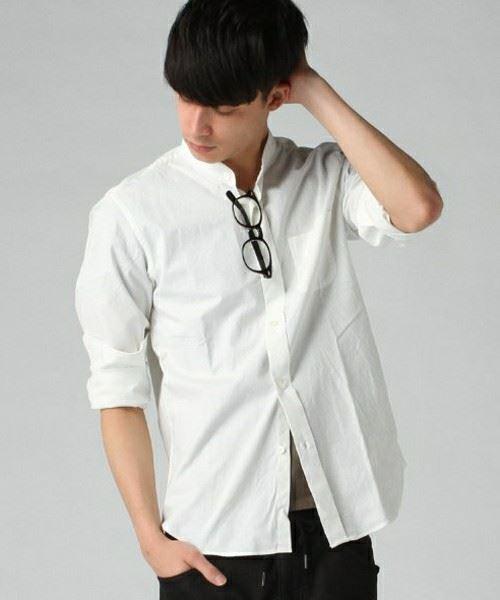 JOURNAL STANDARD MEN'S シャンブレーバンドカラーシャツ