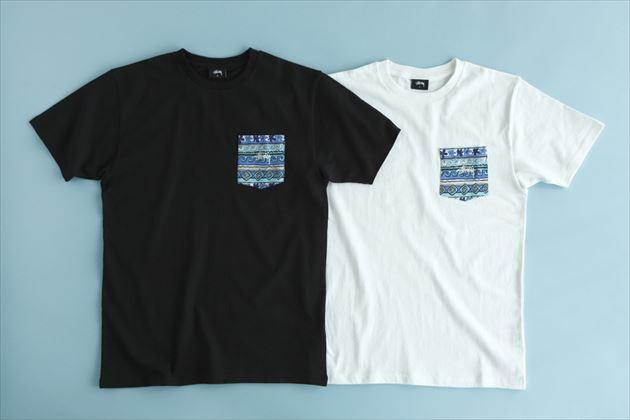 「STUSSY Summer Wave Tom」シリーズポケットTシャツ