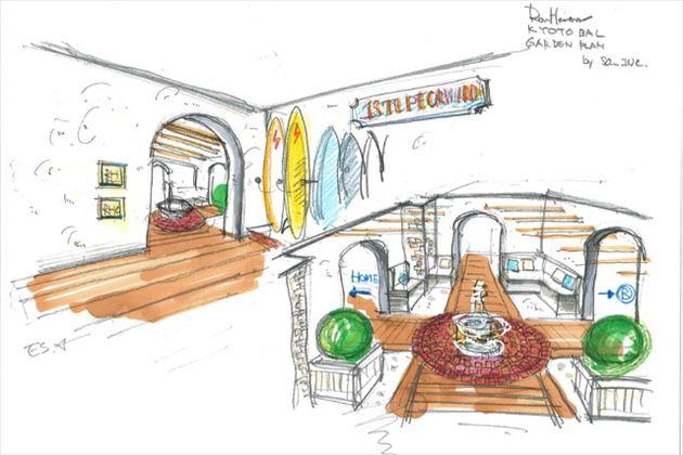 2015年8月オープンのロンハーマン京都店店内イメージ5