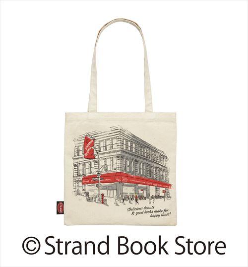 ミスタードーナッツ×STRAND BOOK STOREトートバッグホワイト表の画像