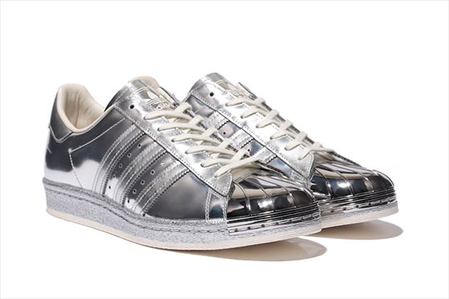 adidas Originals Superstar 80s Metallic Pack silver
