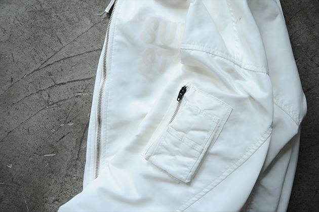 soe2015秋冬コレクションMA-1型ボンバージャケットホワイト4