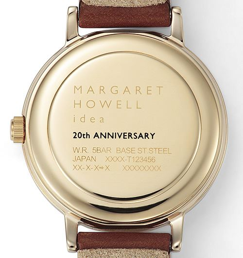 MARGARET HOWELL idea 20th Anniversary Limited Model文字盤裏面