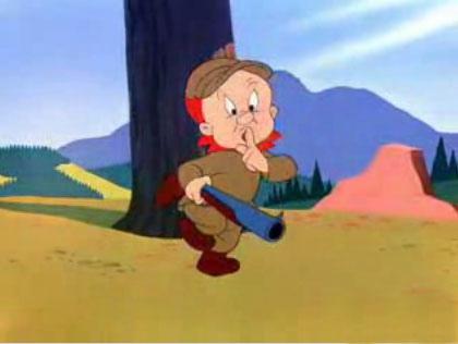 Shhh. Estoy cazando un conejo
