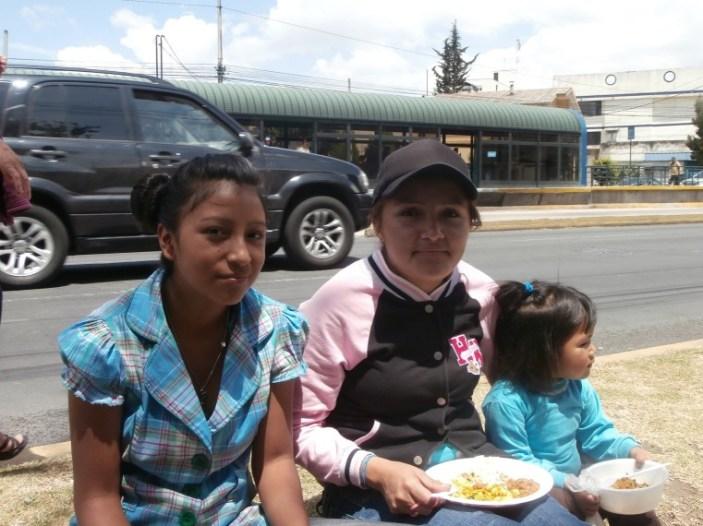 Family food at Pan da Vida