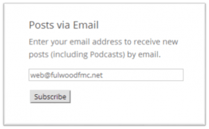 Posts via Email