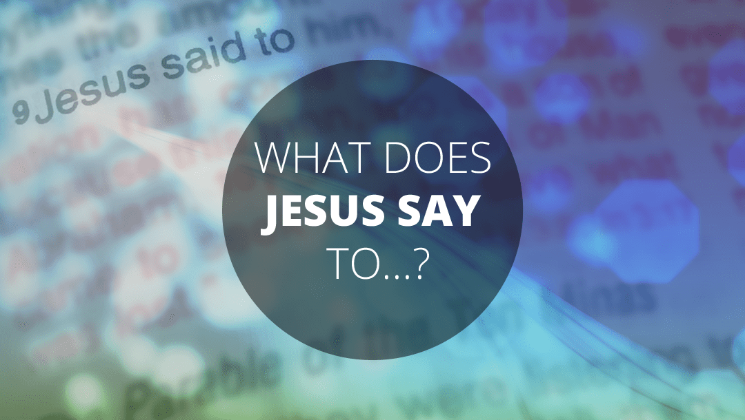What does Jesus say to the Doubter? John 20:24-31: Andrew Gardner