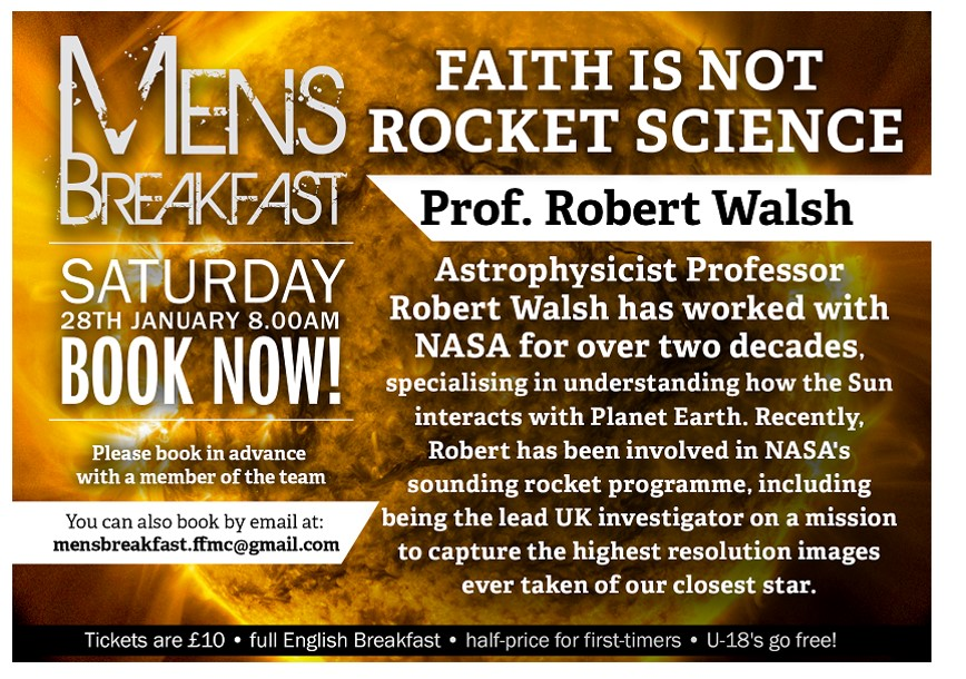 Faith is Not Rocket Science | Robert Walsh | Men's Breakfast