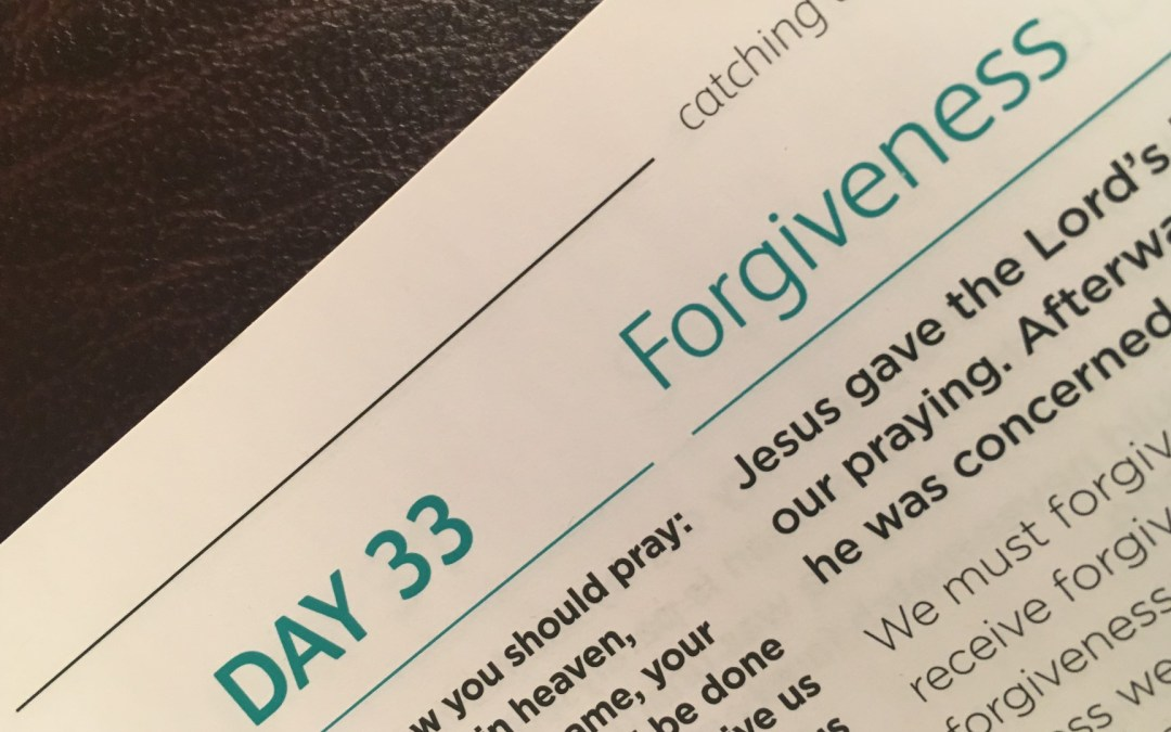 Forgiveness – reflections from Graham Chastney   Day 33   catching the wave   Focus on 40