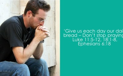 Give us each day our daily bread – Don't stop praying | Luke 11:5-12, 18:1-8, Ephesians 6:18| Dave Sewell