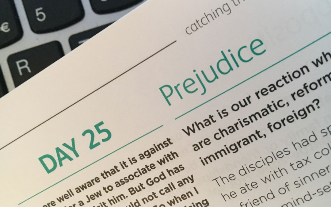 Prejudice – reflections from Sue Chastney | Day 25 | catching the wave | Focus on 40