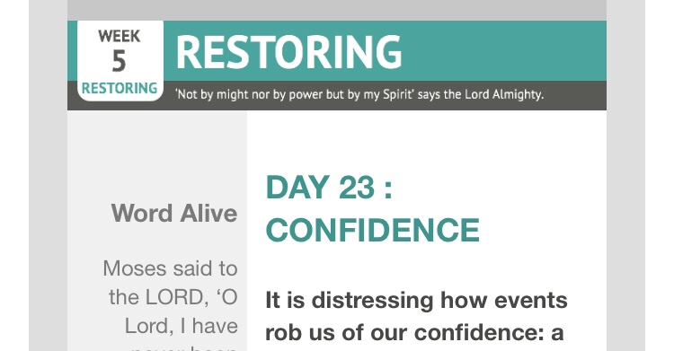 Confidence – reflections from Graham Chastney| Day 23 | catching the wave | Focus on 40