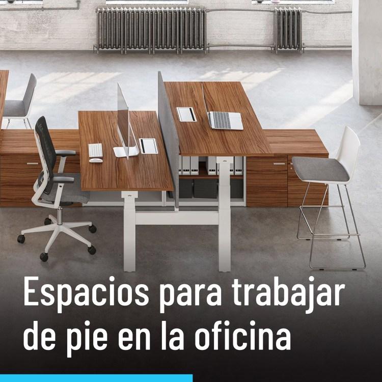 Nuevos espacios para trabajar de pie en la oficina